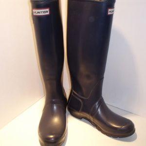 Hunter Shoes - Hunter Navy Blue Waterproof Boots-Sz.7 M